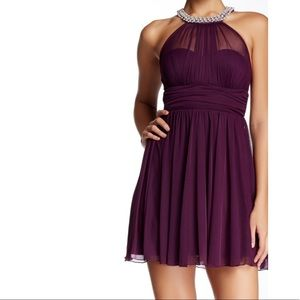 Purple cocktail/homecoming dress